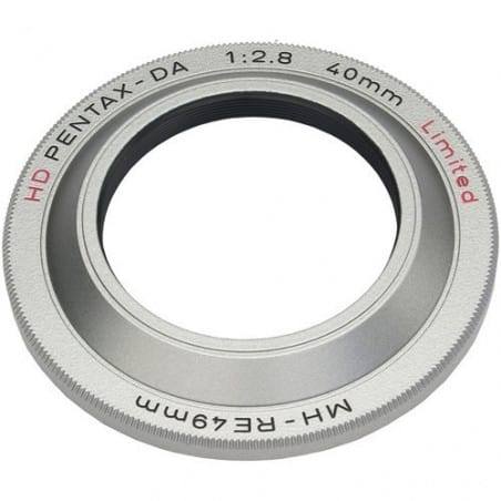 Pentax Paresoleil MH-RE49 pour HD DA 40/2,8 Ltd Silver